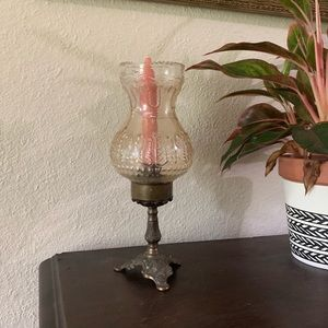 Vintage Ornate metal Candle Holder